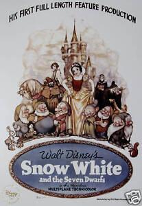 Disney-Store-presale-Lithograph-SNOW-WHITE-2009-MINT