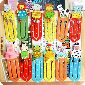 12-PCS-Animal-Party-Favour-Wooden-Bookmark-Page-Holder