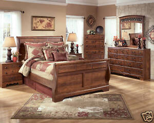 STELLA-5pcs-TRADITIONAL-RUSTIC-COTTAGE-QUEEN-SLEIGH-BEDROOM-SET-NEW-FURNITURE
