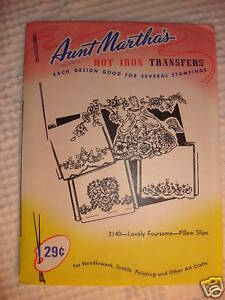 Vintage-AUNT-MARTHA-039-S-TRANSFER-Lovely-Foursome-3140