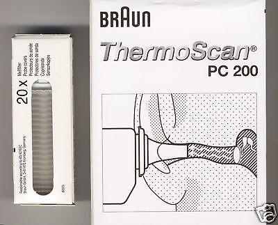 200 Schutzkappen BRAUN THERMOSCAN Ohrthermometer, neu