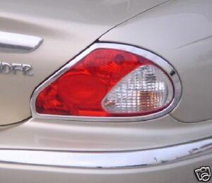Chrome Taillight Trim Rings 2002 2008 Jaguar X Type