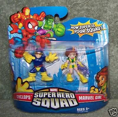 Super Hero Squad 2008 Marvel Cyclops & Marvel Girl Set