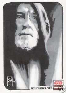 2010 STAR WARS GALAXY 5 OBI WAN KENOBI SKETCH CARD BY TIM PROCTOR