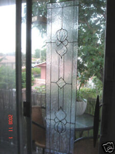 "faux stained glass ""bevel"" sidelight window cling"