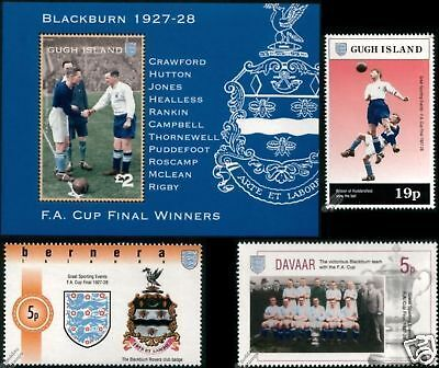 BLACKBURN ROVERS FA CUP Winners 1928 Football Stamps