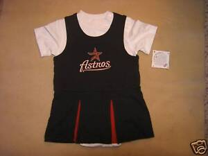 MLB-Houston-Astros-Cheerleader-Dress-Sz-24-Mos-NWT
