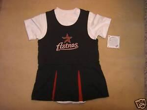 MLB-Houston-Astros-Cheerleader-Dress-Sz-24-Mos-NWT