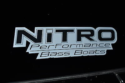 Nitro Fishing Boats Sticker White With Black Decal