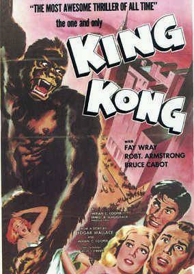 King Kong Fay Wray 1933 Vintage movie poster item 2