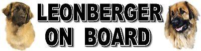LEONBERGER ON BOARD Car Sticker By Starprint