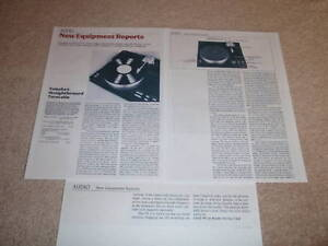 Yamaha PX-3 Tunrtable REVIEW,1982, 3 pgs,FULL TEST,RARE