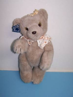14 Applause Clarissa Jointed Plush Classic Tan Girl Teddy Bear W/ Tag