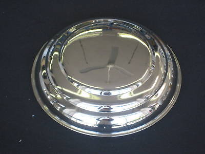 1941-48 Ford Hubcap Set Of (4) Smooth W/3 Ribbed Style