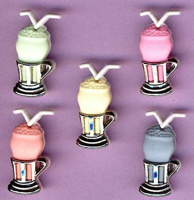 MILKSHAKES SODA DRINKS - Summer Themed Craft Buttons
