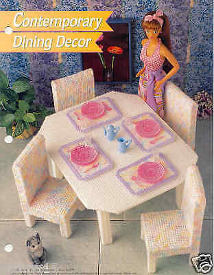 Fashion Doll Contemporary Dining Decor Plastic Canvas Pattern