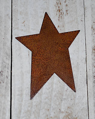 "6 --- 4""  Primitive Rusty Tin STARS + craft supply + on Rummage"