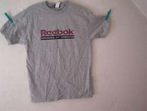REEBOK-t-shirt-S-S-gray-with-red-REEBOK-size-medium-NWT