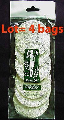 24 Loofah Luffa Facial Complexion Skin Disc Disk Pads
