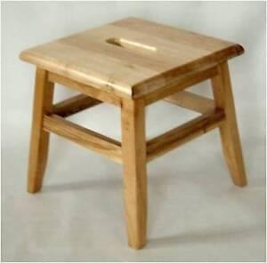 Solid Wood Footstool Step Stool Ebay