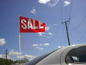 $ CAR DEALER 12 NEW CLOTH RED SALE FLAG ANTENNA PENNANTS