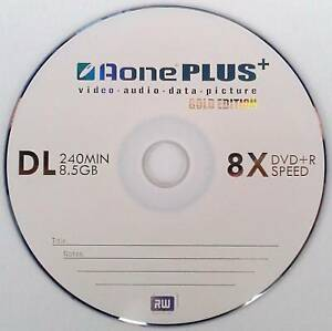 5 aone gold edition dual layer dvd r dl 8x 8 5gb disc ebay. Black Bedroom Furniture Sets. Home Design Ideas