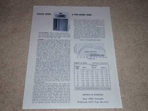 Klipsch LaScala Speaker Review, 1971, Full Test,1 pg