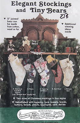 Gooseberry Hill Victorian Christmas Stocking Pattern & 5 Teddy Bear Jointed