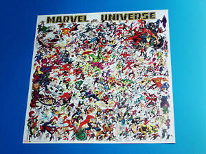 Marvel Universe Poster Marvel Comics 100's Of Superheroes