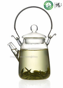Metal-Handle-Clear-Glass-Teapot-300ml-FH-206