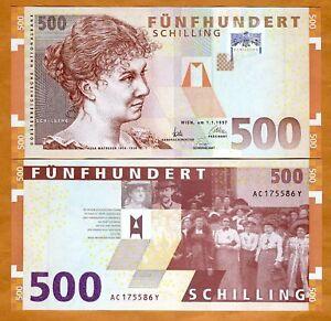 Austria-500-schillings-1997-P-154-pre-Euro-UNC-gt-Rare
