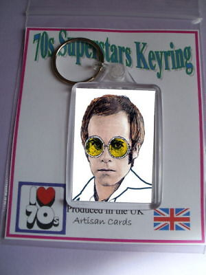 Elton John Super 70s Keyring