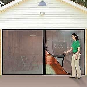 2 Car Garage Instant Door Screen w Magnetic Closers | eBay