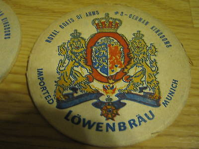 12-pc-Lowenbrau-Munich-Imported-German-Beer-Coasters
