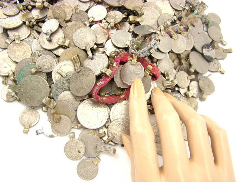 Tribal 200 real COINS Belly Dance Kuchi MIXED