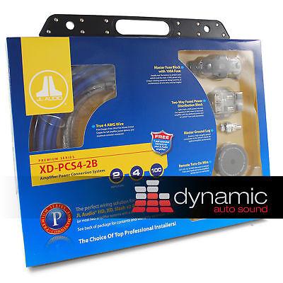 Jl Audio Xd-pcs4-2b Car Sub Amplifier 700w Speaker 2 Amp Install Kit 4 Awg