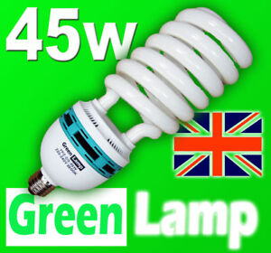 45w-Blue-Spectrum-6400k-CFL-grow-light-lamp-bulb-ES-E27