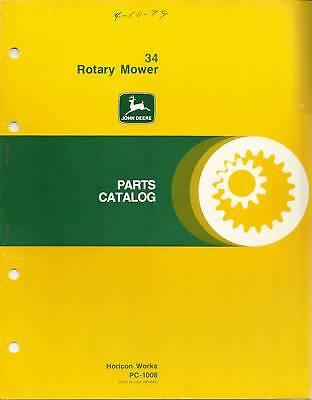 John Deere 34 Rotary Mower Parts Catalog