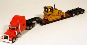 Norscot-Peterbilt-Truck-Lowboy-Cat-D5M-Dozer-HO-1-87
