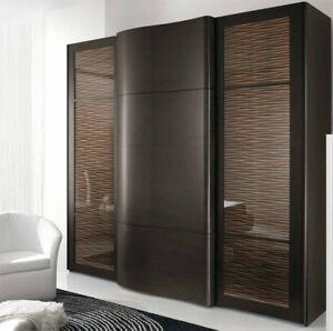 Kleiderschrank modern  Exklusive Modern Kleiderschrank Italien Fichte Braun Wenge ...