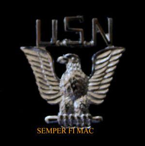 US-NAVY-USN-SILVER-EAGLE-HAT-PIN