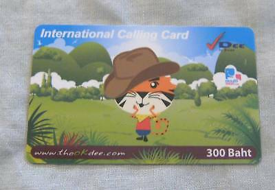 USED-THAILAND-PHONECARD-DEE-300-Baht-International