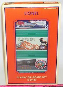 Lionel-new-6-24187-Classic-Billboard-set