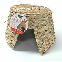 Nature hut hamster rabbit straw nest house cage
