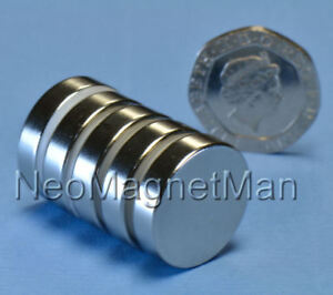 Neodymium Disc Magnets 20mm dia. x 5mm thick (Pk of 5)