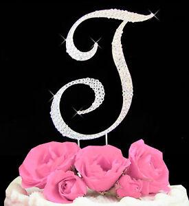 Swarovski-Crystal-Covered-Cake-Letter-A-Z-Available