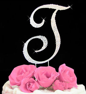Swarovski-Crystal-Covered-Cake-Letter-A-Z-Available