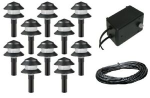 details about malibu 10 pack 4w low voltage landscape light kit w 44w. Black Bedroom Furniture Sets. Home Design Ideas