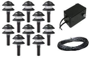 details about malibu 10 pack 4w low voltage landscape light kit w 44w. Black Bedroom Furniture Sets. Home Design Ideas