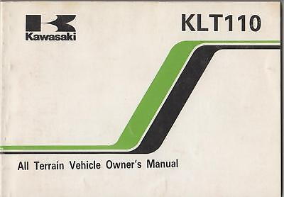 1984 Kawasaki Atv 4 Wheeler Klt 110 Owners Manual